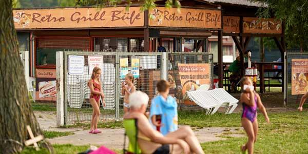 Aranypart Camping Retro Grill Büfé