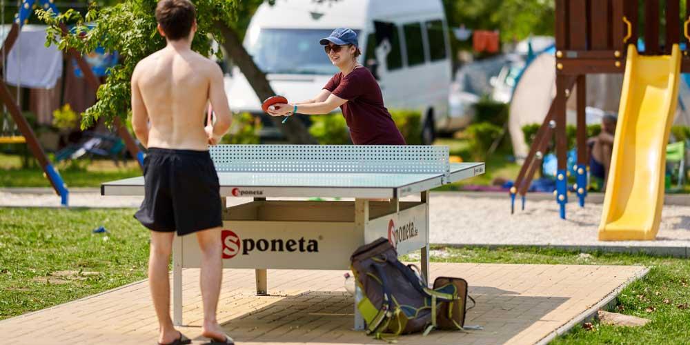 Aranypart Camping Balaton Siófok ping pong