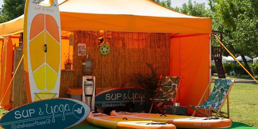 Aranypart Camping Siófok sup shaka surfbase