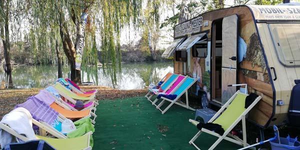 Aranypart Camping Balaton Siófok szauna